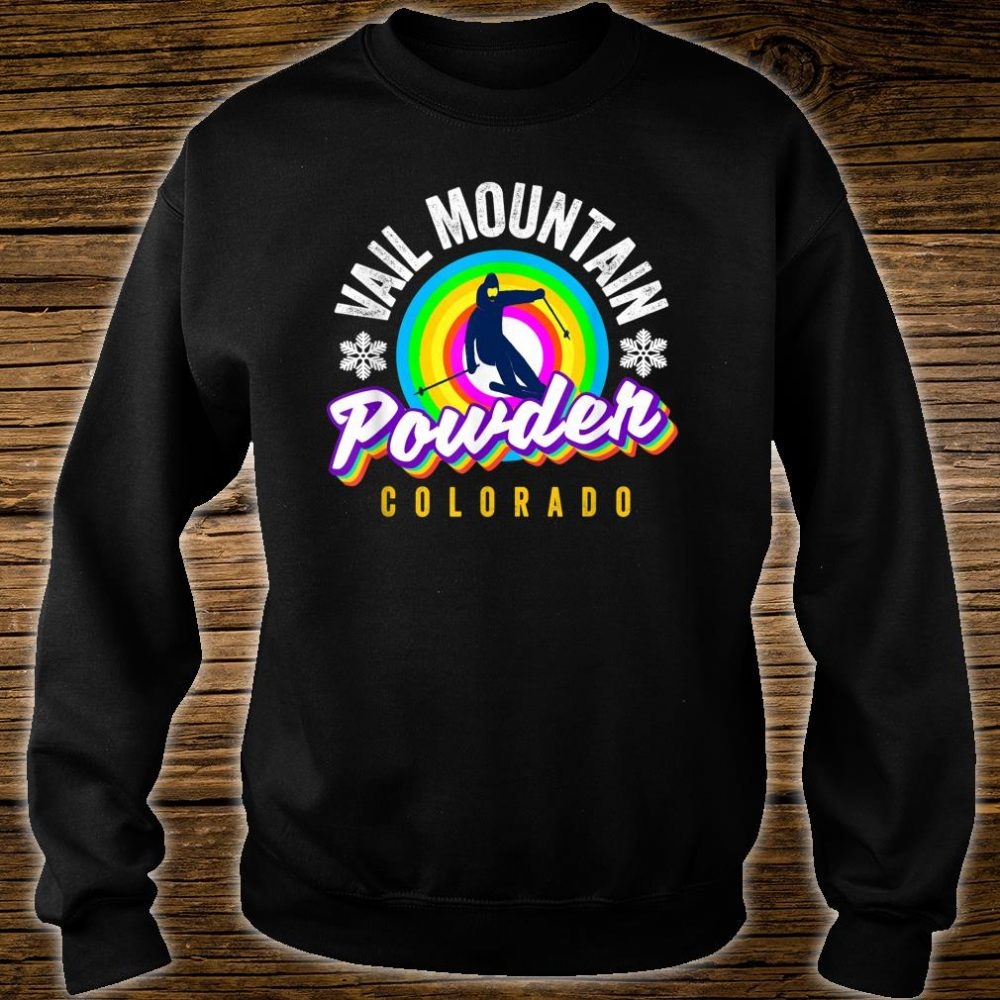 Cool Vail Pass CO Snowboarder Retro Colorado Vail CO Skier Shirt sweater