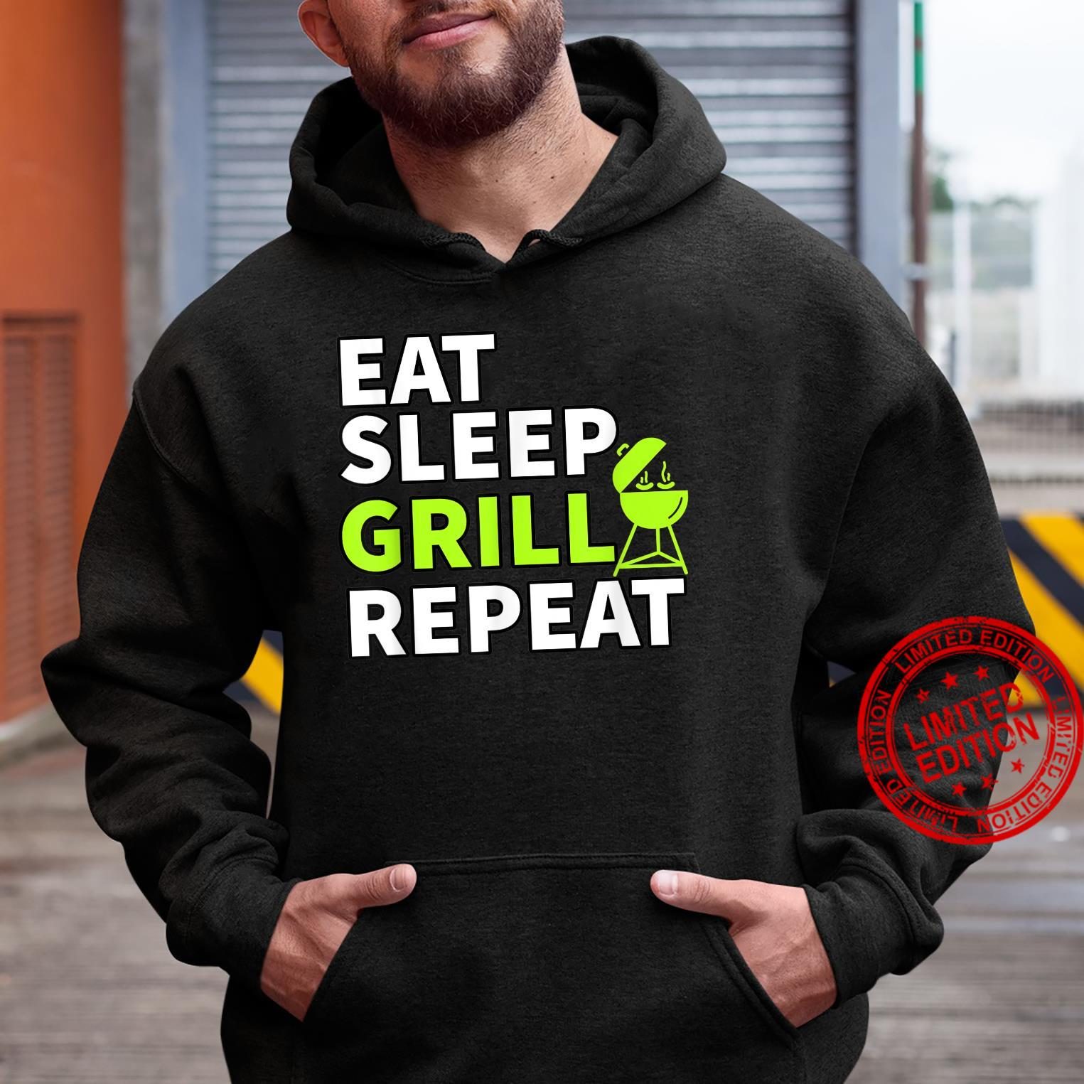 Eat Sleep Grill Repeat Barbeque Cook BBQ Cooking Shirt hoodie
