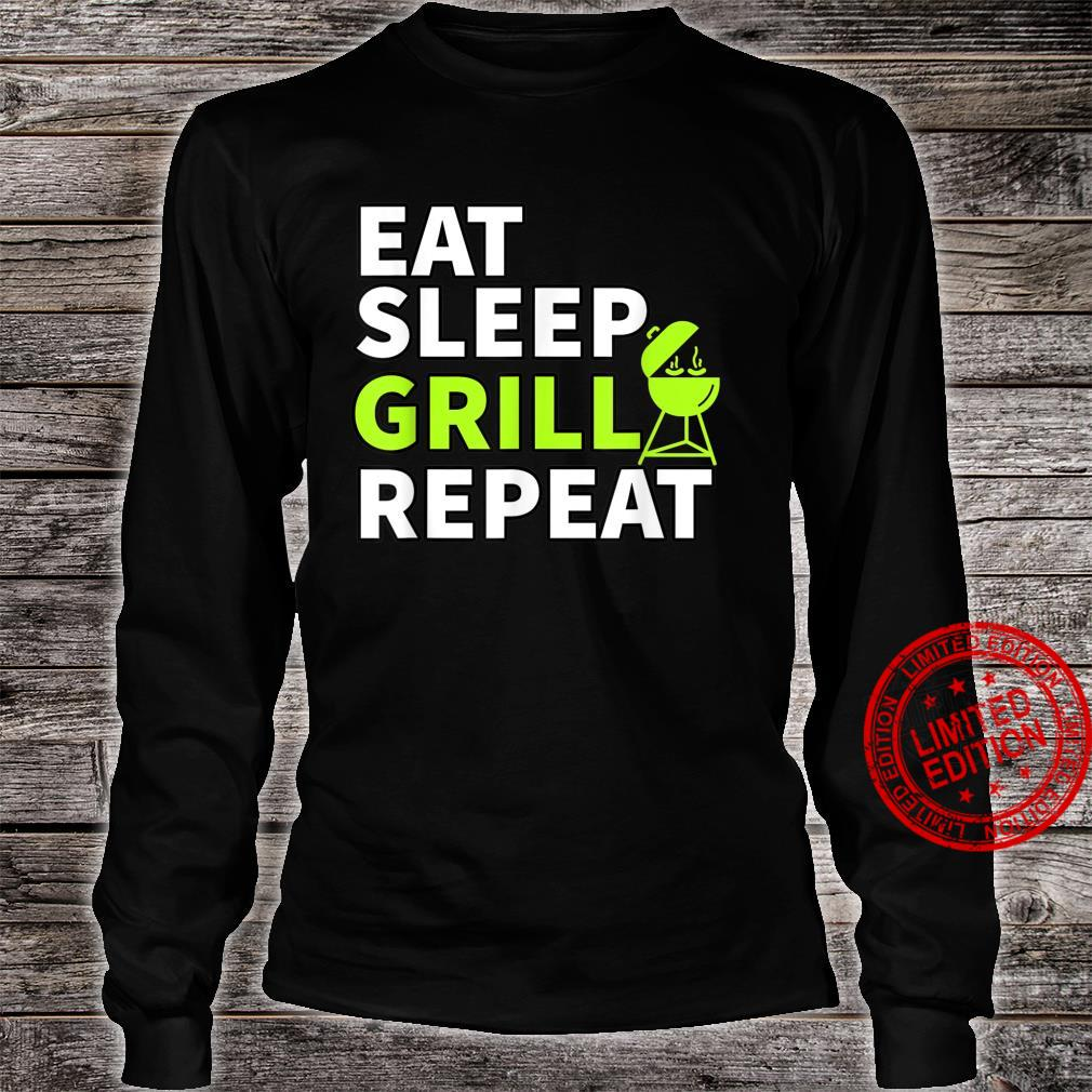 Eat Sleep Grill Repeat Barbeque Cook BBQ Cooking Shirt long sleeved