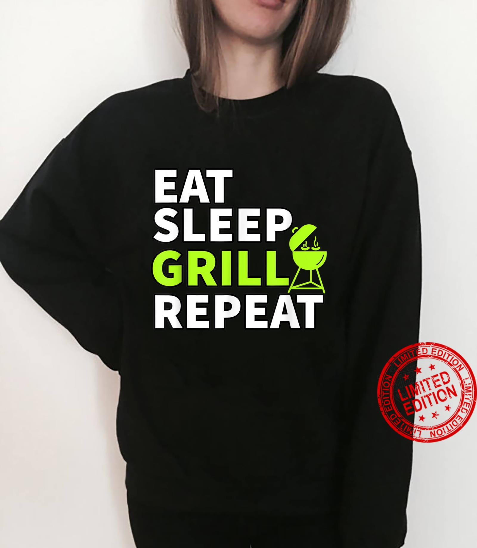 Eat Sleep Grill Repeat Barbeque Cook BBQ Cooking Shirt sweater