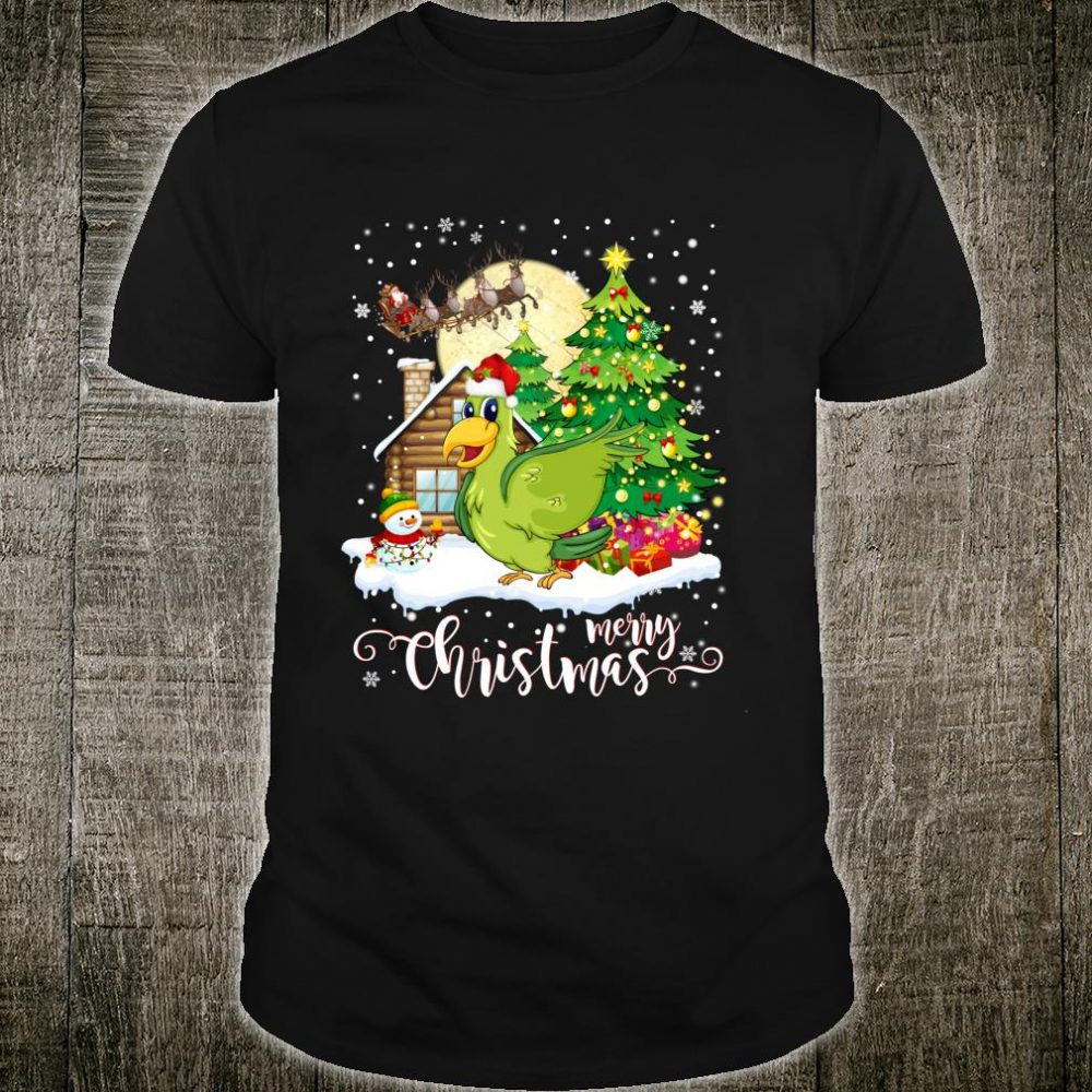 Funny Cute Bird Merry Christmas 2019 Shirt