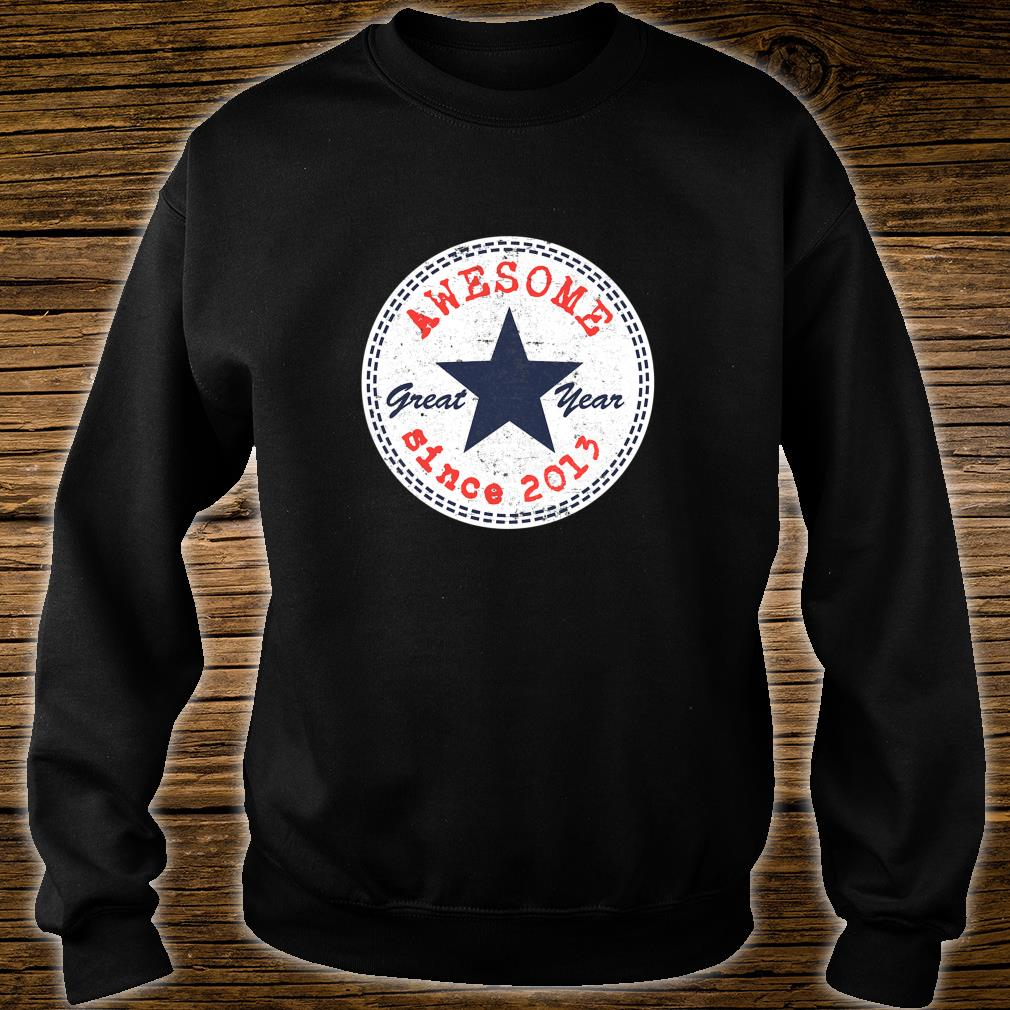 Kids 6th Birthday 6 Year Old Girl Boy Awesome Since 2013 Shirt sweater