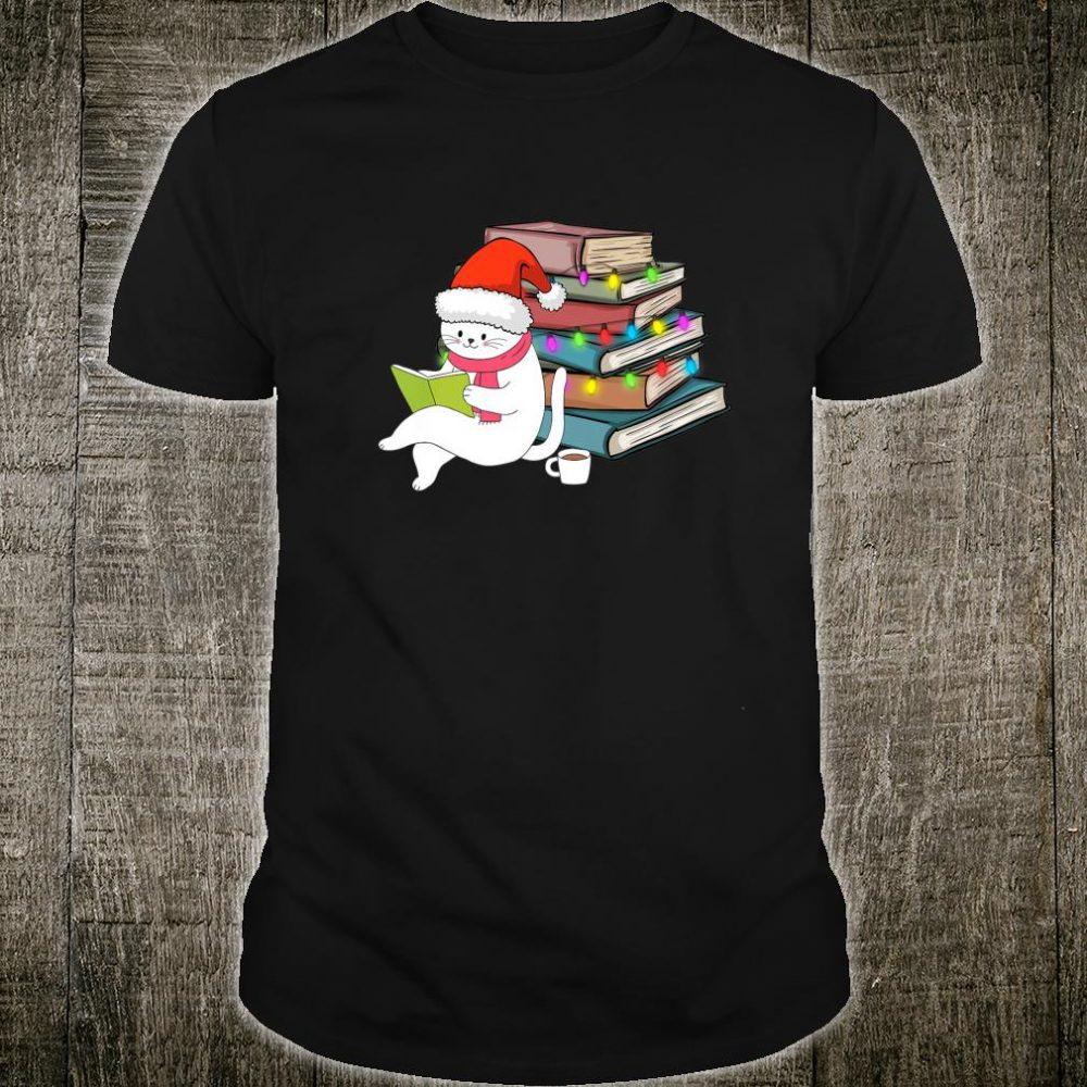 Kittens Cats Tea And Books Christmas hirt