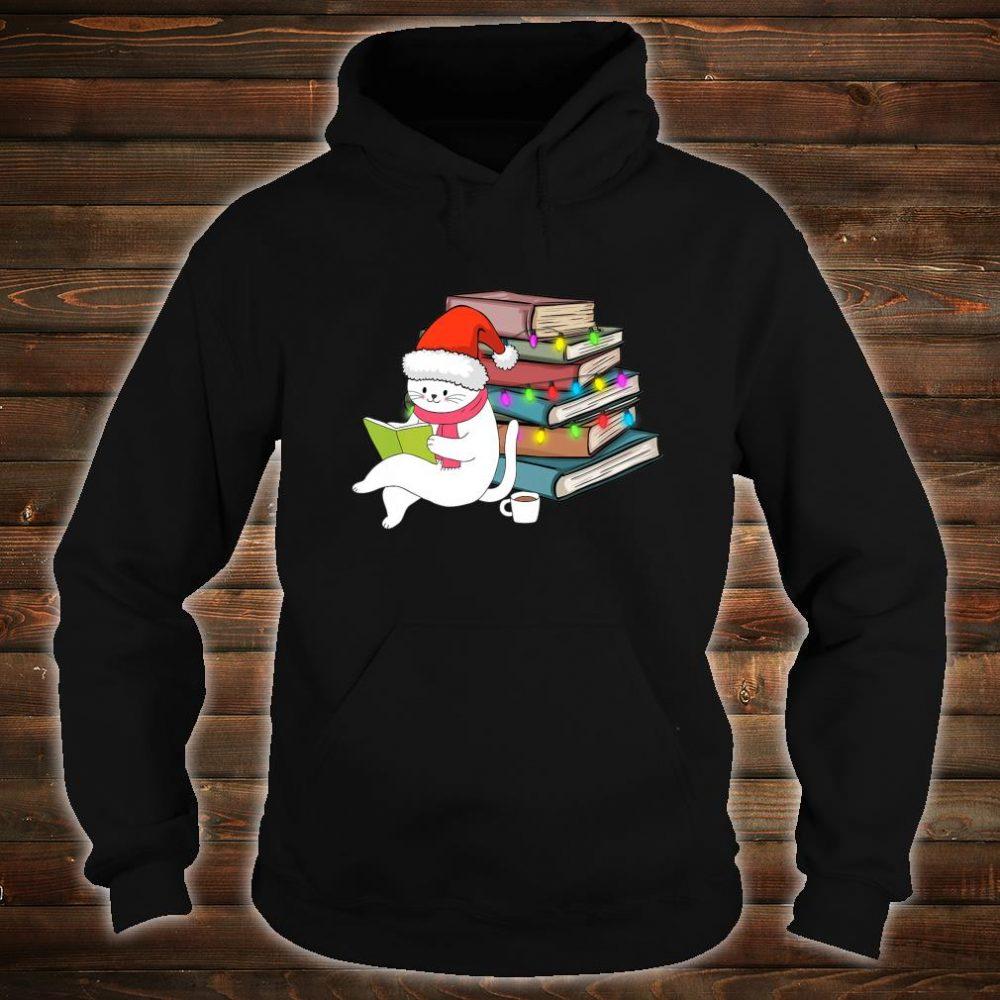 Kittens Cats Tea And Books Christmas hirt hoodie
