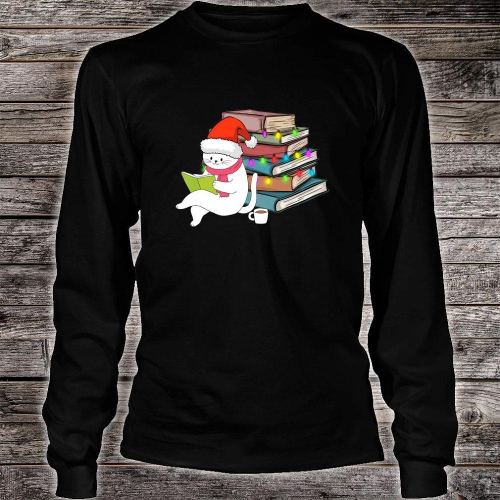 Kittens Cats Tea And Books Christmas hirt long sleeved