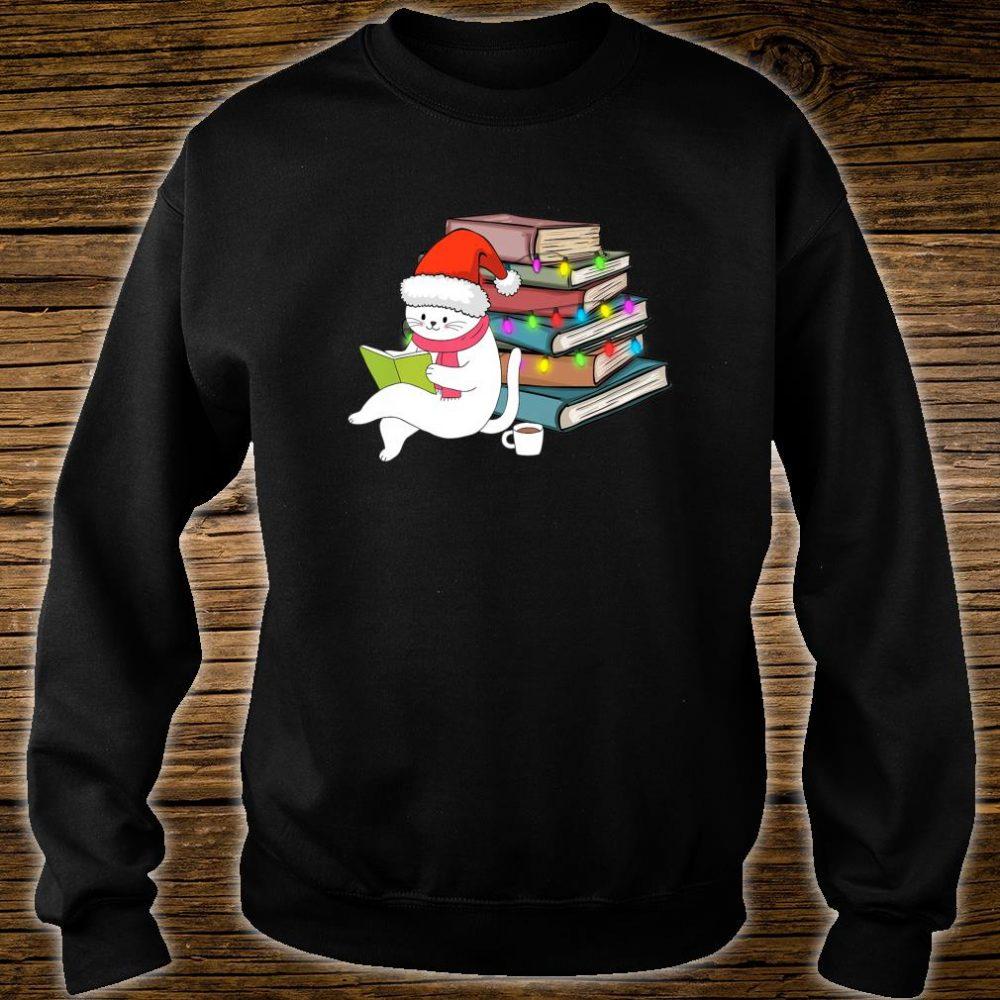 Kittens Cats Tea And Books Christmas hirt sweater
