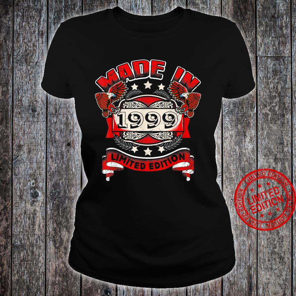 Made In 1999 Vintage 21st Birthday Limited Edition Shirt ladies tee