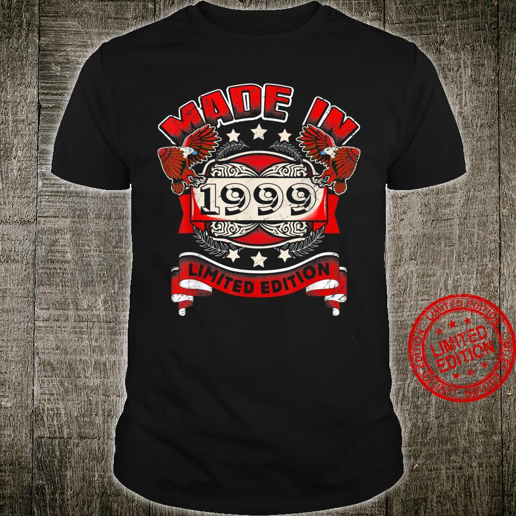 Made In 1999 Vintage 21st Birthday Limited Edition Shirt