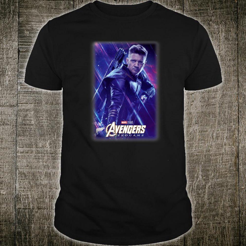 Marvel Avengers Endgame Hawkeye Galactic Poster Shirt