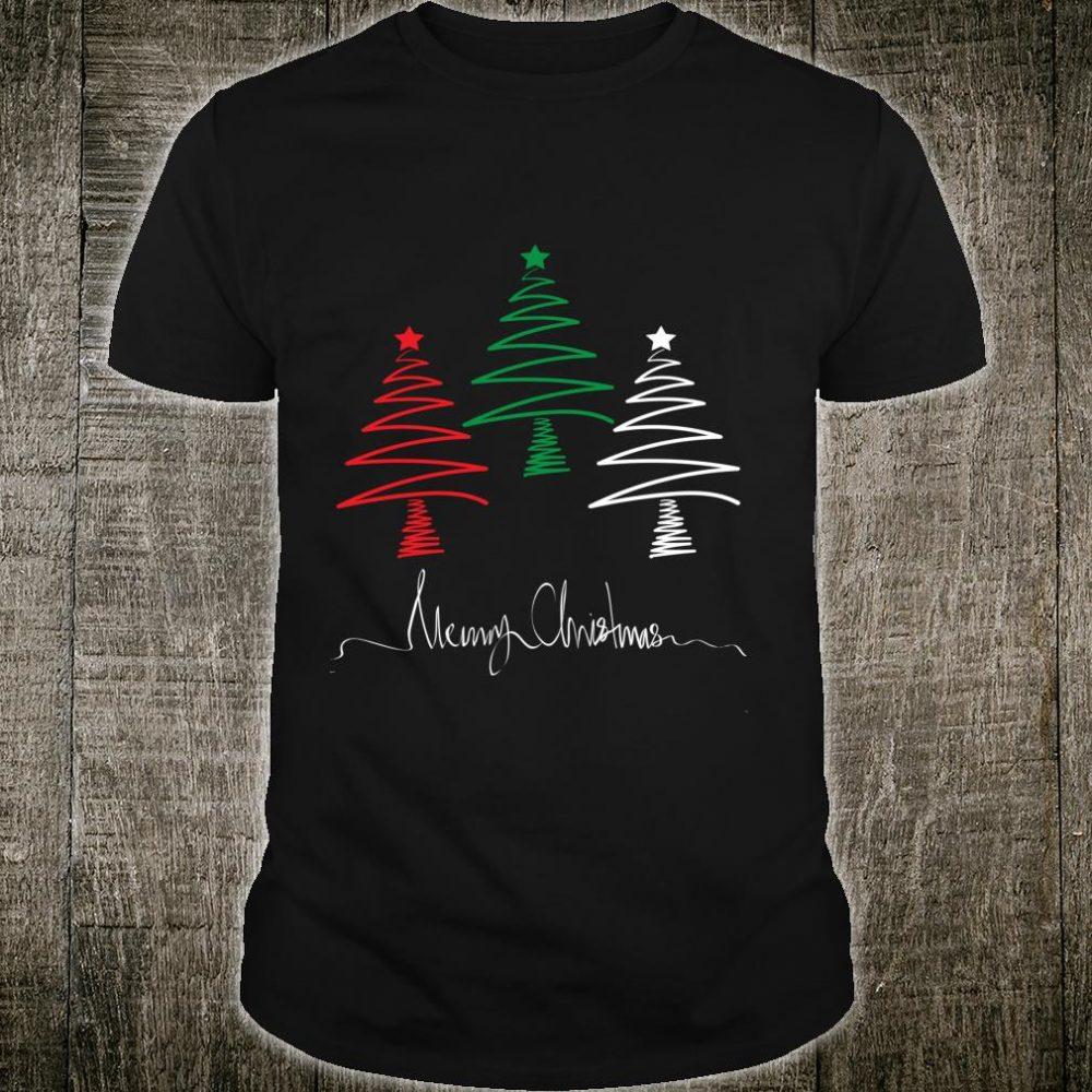 Merry Christmas, Christmas tree Red, White, Green Shirt
