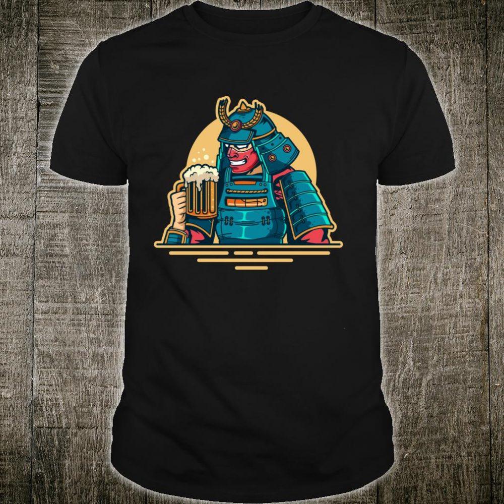 Ninja Drinking Brew Beer Japanese Samurai Warrior Costume Shirt