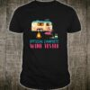 Official Campsite Wine Tester Flamingo Camping Wine Lover Shirt