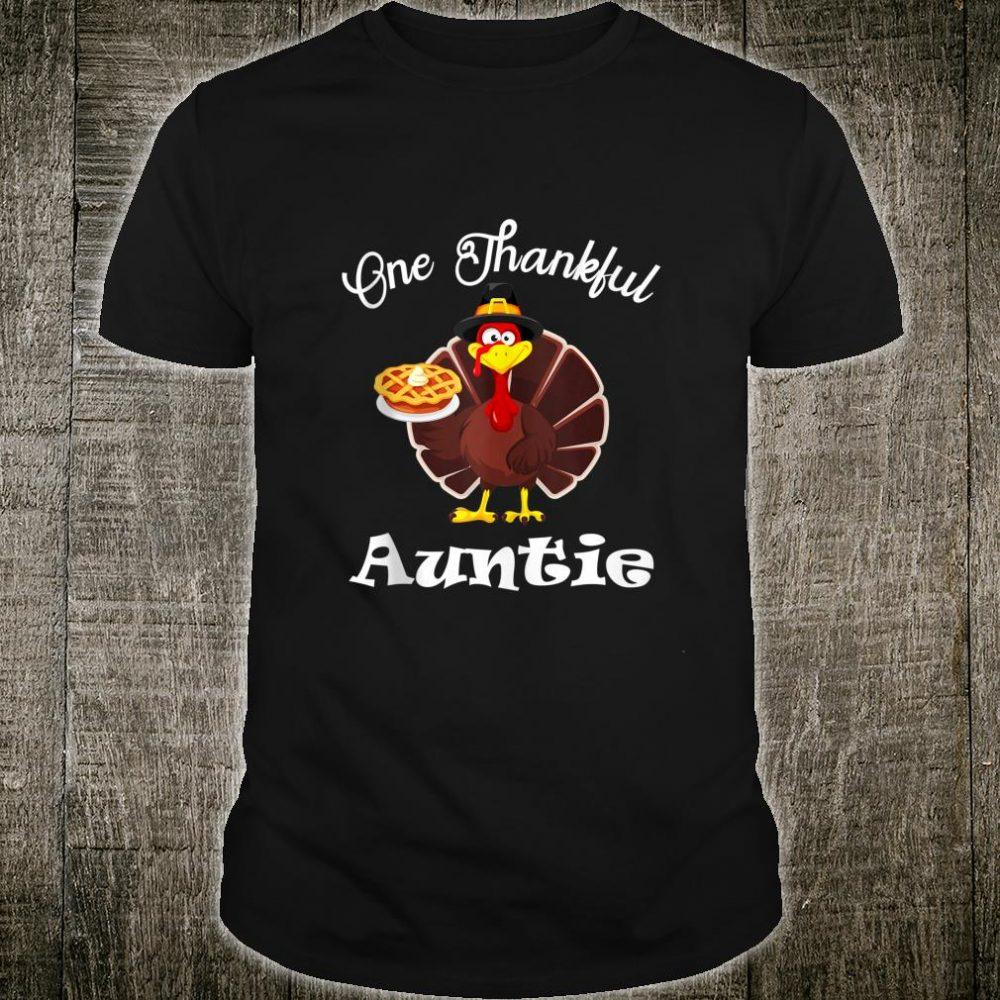 One Thankful Auntie Thanksgiving Shirt