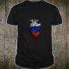 Russia Flag Heart Moscow Kremlin Siberia Shirt