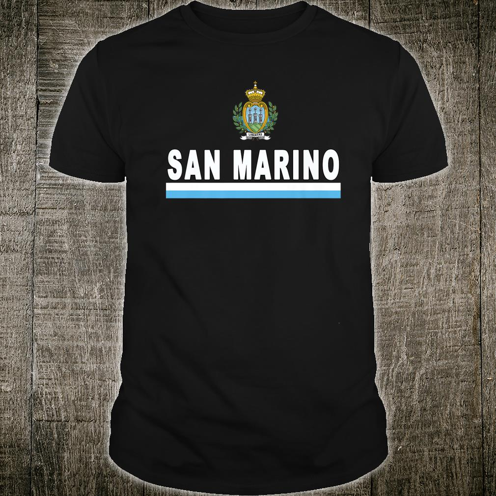 San Marino Sportsstyle Flag and Emblem Sammarinese Design Shirt
