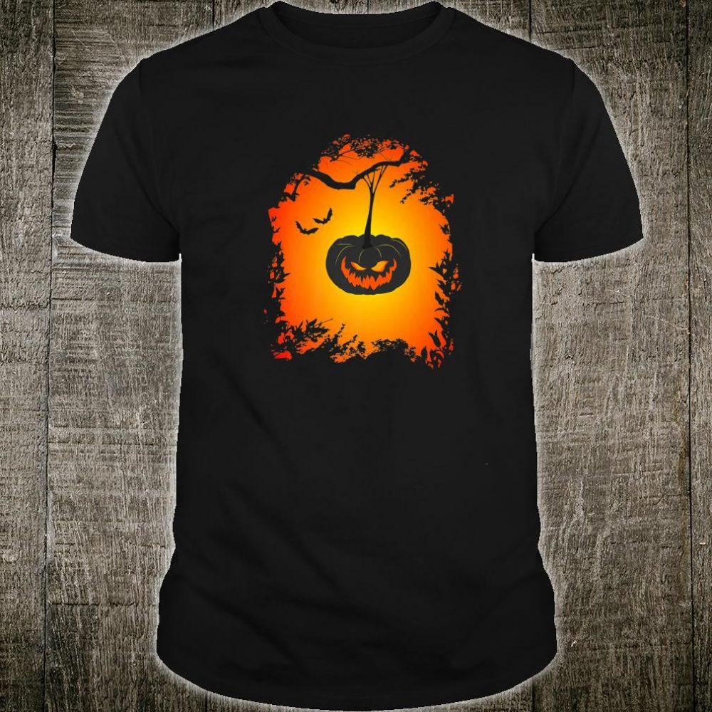 Scary Halloween haunted pumpkin Shirt