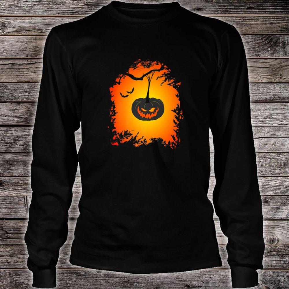 Scary Halloween haunted pumpkin Shirt long sleeved