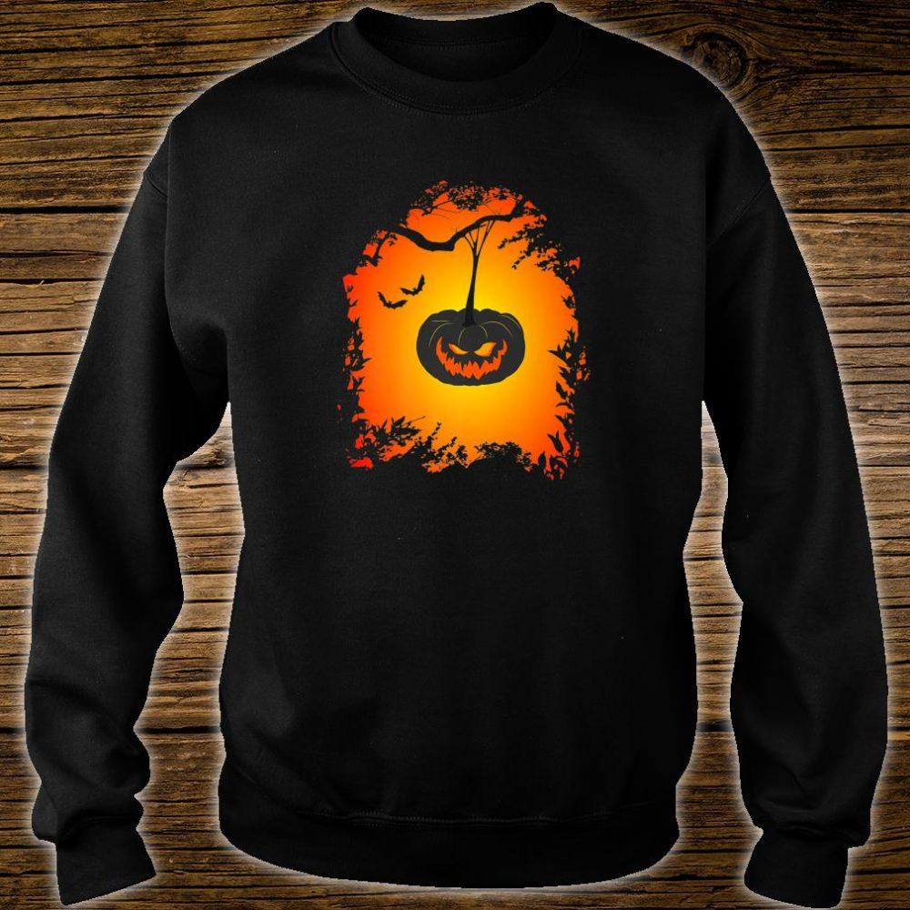 Scary Halloween haunted pumpkin Shirt sweater