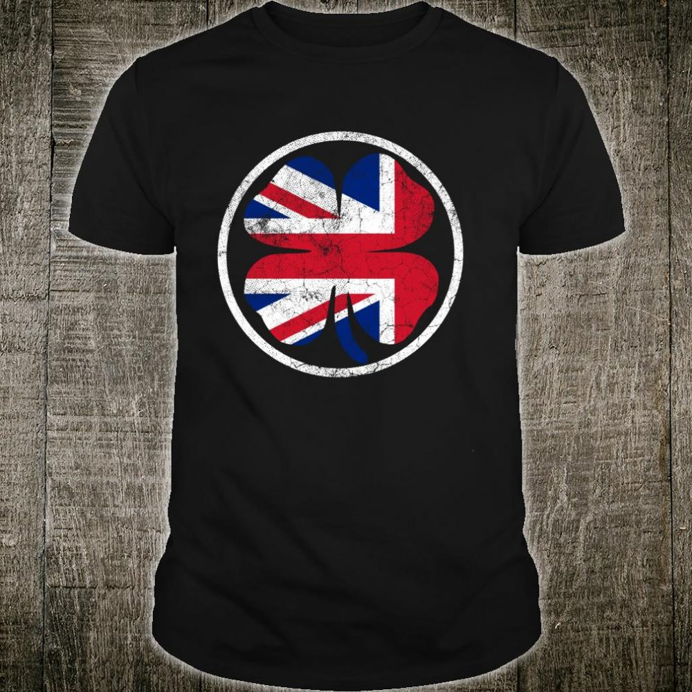St. Patrick's Day British Shamrock Union Jack Flag England Shirt
