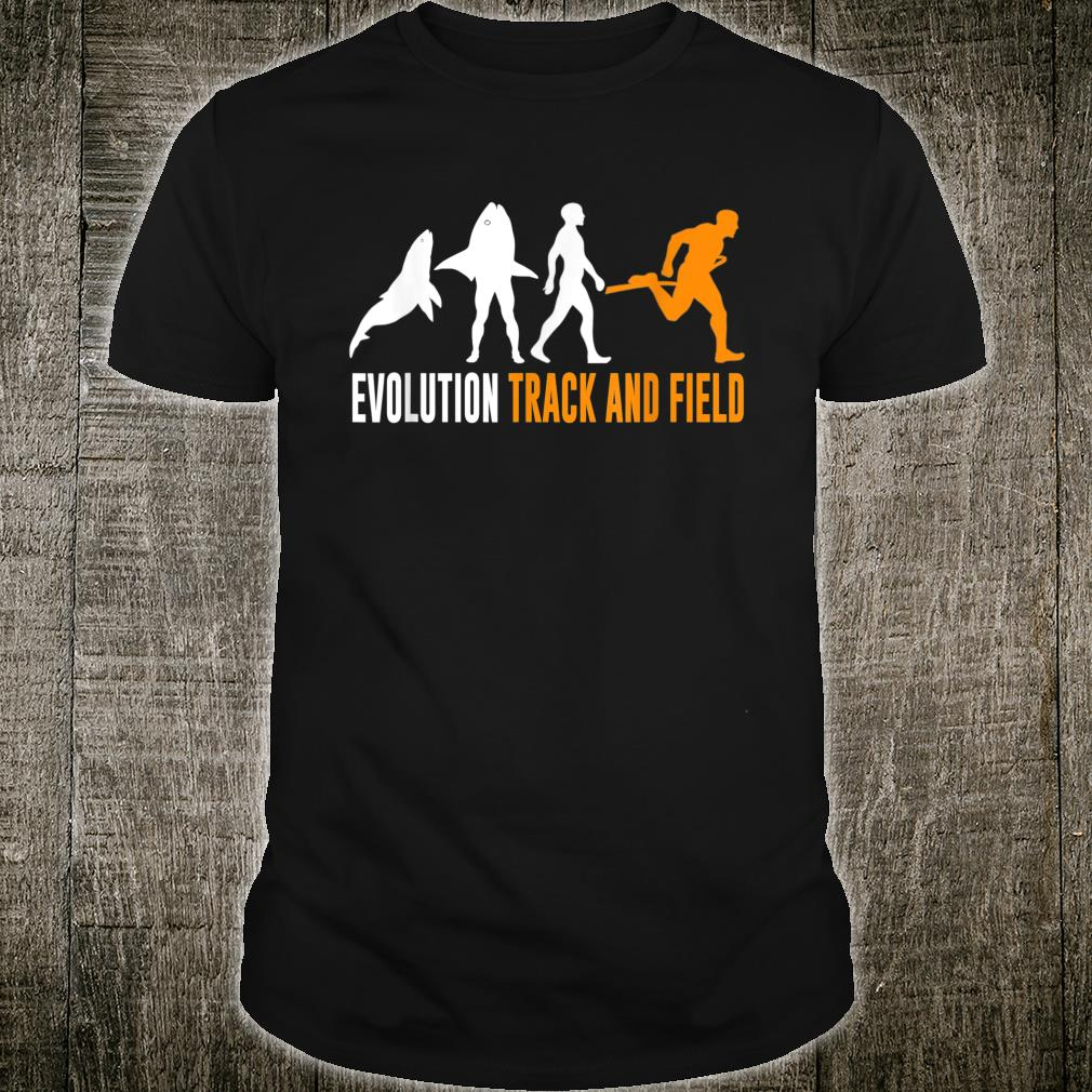 The Evolution of fishes Human Track and Field Shirt