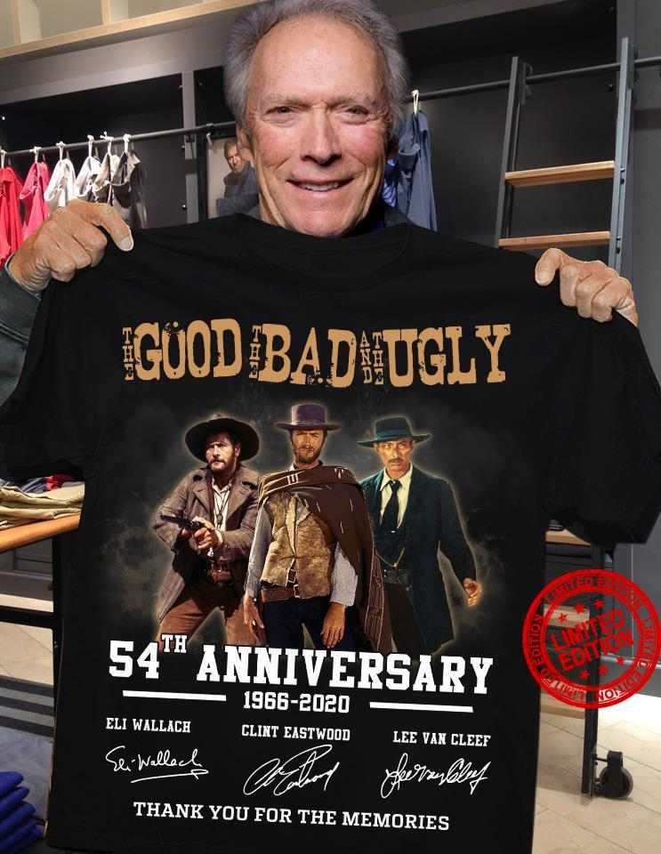 The Good The Bad And The Ugly 54th Anniversary 1966-2020 Thank You For The Memories Shirt