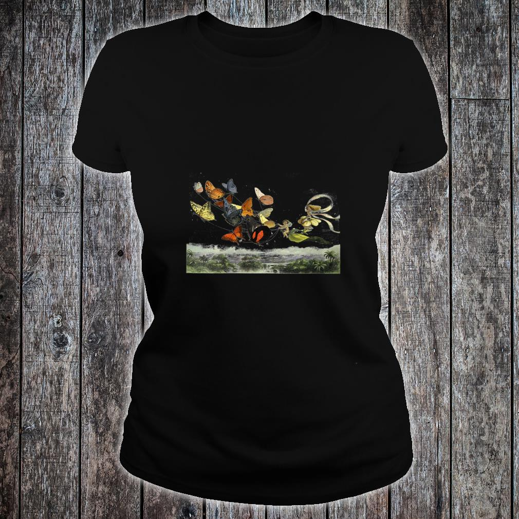 Womens Vintage Butterflies Butterfly Collection FAIRY entomology Shirt ladies tee