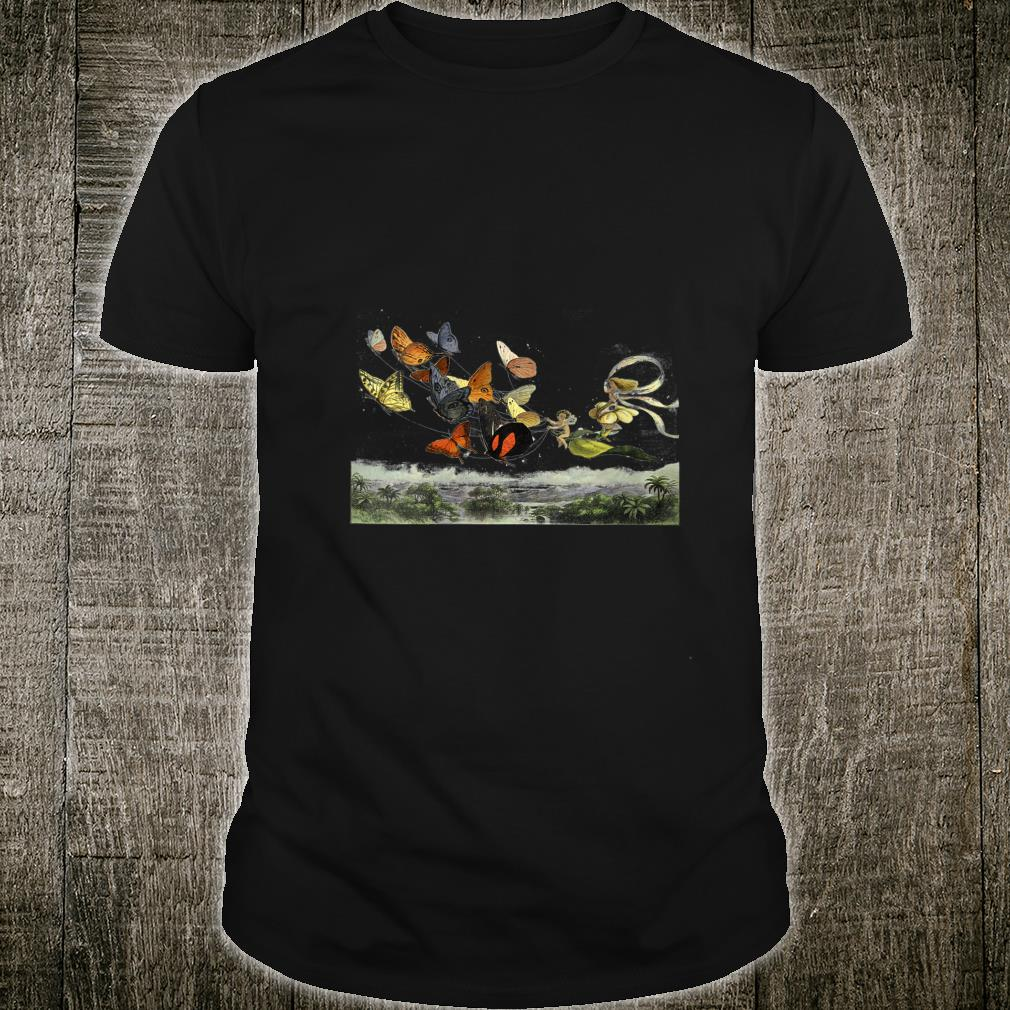Womens Vintage Butterflies Butterfly Collection FAIRY entomology Shirt