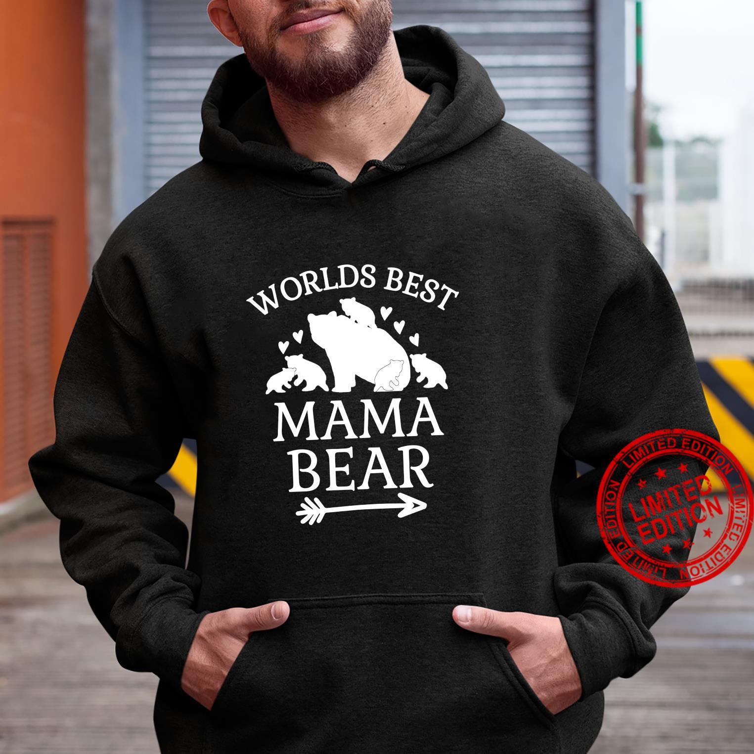 Worlds Best Mama Bear 5 Cubs Mothers Day For Mom Shirt hoodie