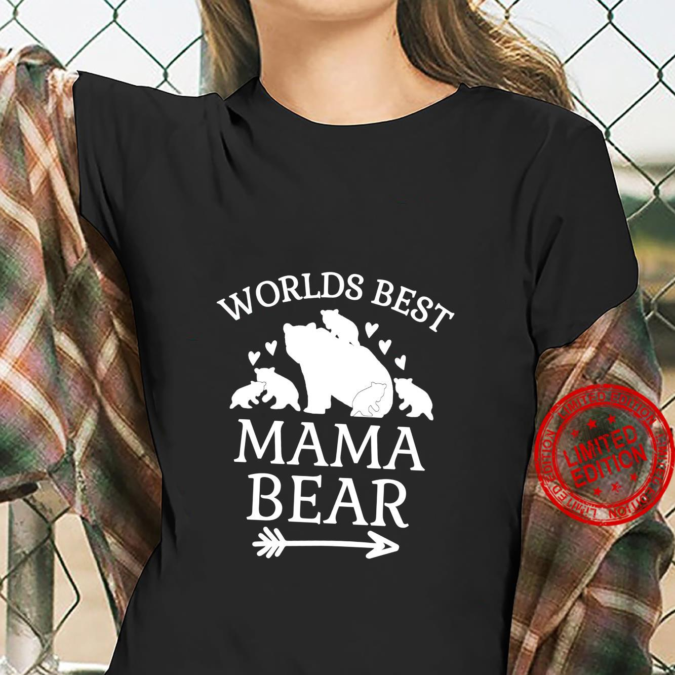 Worlds Best Mama Bear 5 Cubs Mothers Day For Mom Shirt ladies tee