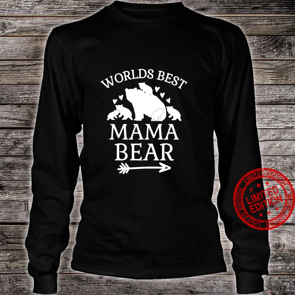 Worlds Best Mama Bear 5 Cubs Mothers Day For Mom Shirt long sleeved