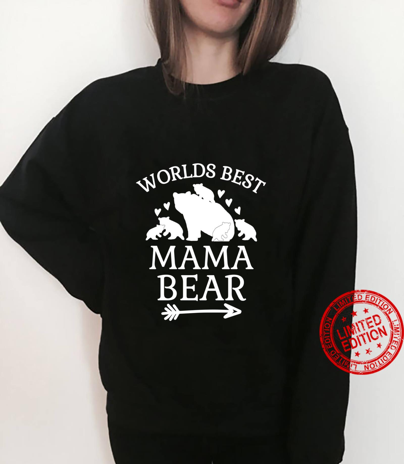 Worlds Best Mama Bear 5 Cubs Mothers Day For Mom Shirt sweater