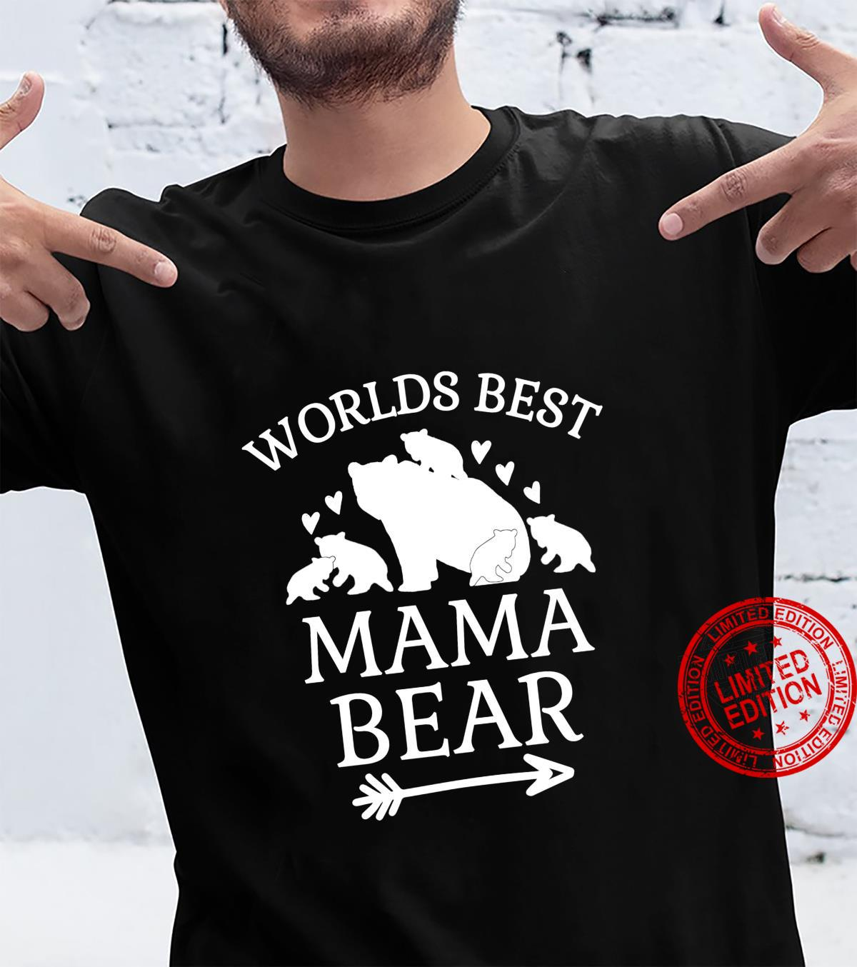Worlds Best Mama Bear 5 Cubs Mothers Day For Mom Shirt